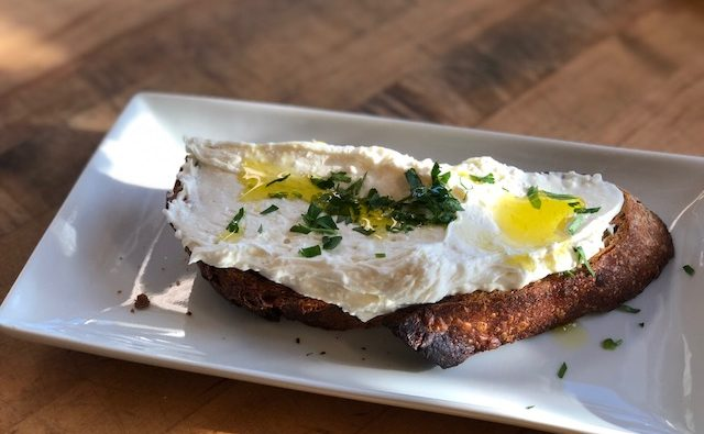 Olive & Herb with whipped feta, evoo & herbs (BirchTree Bread Company)